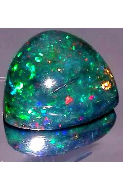 1.91 CTS TRILLION MULTICOLOR TRANSLUCENT NATURAL UNHEATED AUSTRALIAN BLACK OPAL!