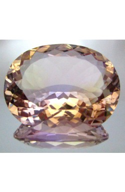 33.60 CT OVAL SHAPE PASTEL LIGHT PURPLE YELLOW VVS NATURAL BOLIVIAN AMETRINE!