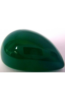30.06 CTS PEAR SHAPE EMERALD GREEN NATURAL UNHEATED UNTREATED CHROME CHALCEDONY!