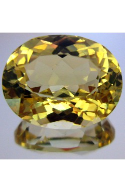 4.13 CTS OVAL VVS CLEAN CANARY YELLOW UNHEATED NATURAL GOLDEN HELIODOR BERYL!
