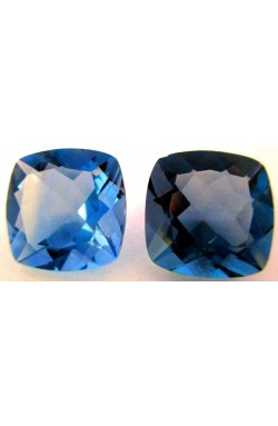 17.05 CTS CUSHION SHAPE DARK BLUE COLOR CHANGE NATURAL UNHEATED FLUORITE PAIR!