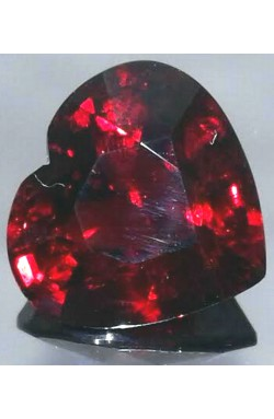 8.31 CTS HEART SHAPE VS CLEAN ORANGISH RED NATURAL UNHEATED SPESSARTINE GARNET!