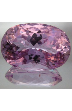 40 CTS TOP QUALITY OVAL UNHEATED UNTREATED NATURAL MEDIUM PINK KUNZITE!