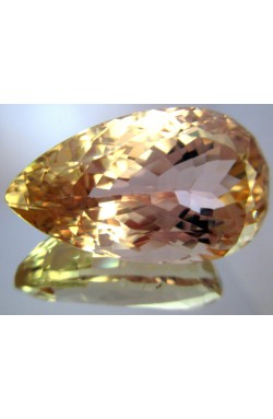 42.55 CT TOP QUALITY VVS ORANGE UNHEATED UNTREATED NATURAL KUNZITE SPODUMENE!