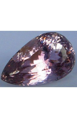 79.70 CT TOP QUALITY PEAR SHAPE UNHEATED UNTREATED NATURAL PURPLE PINK KUNZITE!