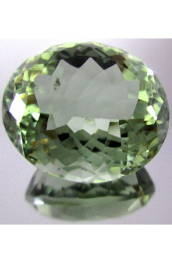 16.36 CTS OVAL SHAPE MEDIUM BOTTLE GREEN UNHEATED NATURAL PRASIOLITE QUARTZ!