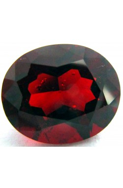 6.17 CTS OVAL SHAPE SI CLEAN RUBY RED NATURAL UNHEATED PYROPE GARNET!