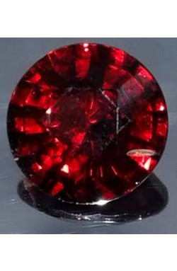 2.16 CTS ROUND SHAPE SI CLEAN RUBY RED NATURAL UNHEATED RHODOLITE GARNET!