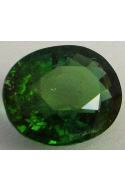 6.43 CTS OVAL UNHEATED UNTREATED NATURAL EMERALD GREEN ELBAITE TOURMALINE!