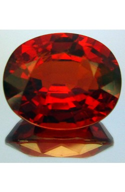 2.10 CTS OVAL SHAPE VS CLEAN ORANGISH RED NATURAL UNHEATED SPESSARTINE GARNET!