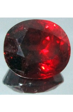 7.17 CT CUSHION SHAPE VS CLEAN ORANGISH RED NATURAL UNHEATED SPESSARTINE GARNET!