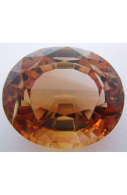 39.84 CTS OVAL SHAPE VVS UNHEATED UNTREATED NATURAL CHAMPAGNE TOPAZ!