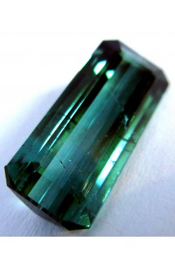 5.05 CTS EMERALD SHAPE UNHEATED UNTREATED NATURAL BLUISH GREEN TOURMALINE!